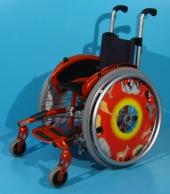 Scaun cu rotile activ copii din aluminiu Meyra / latime sezut 26 cm