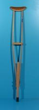 Carja din lemn cu sprijin subrat second hand Dimalo / 1 buc