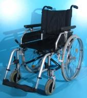 Scaun cu rotile din aluminiu second hand Uniroll  / latime sezut 46 cm