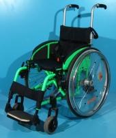 Scaun cu rotile activ pliabil din aluminiu Sopur / latime sezut 36 cm