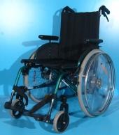 Scaun cu rotile din aluminiu second hand Sopur / latime sezut 44 cm