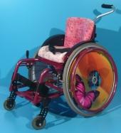 Scaun cu rotile activ copii second hand Sorg / latime sezut 28 cm