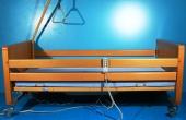Pat electric pentru ingrijire pacienti cu trei sectiuni
