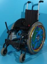 Scaun cu rotile activ copii din aluminiu Sopur / latime sezut 27 cm