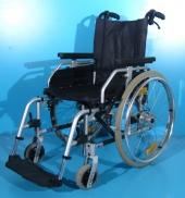 Scaun cu rotile din aluminiu second hand Uniroll / latime sezut 42 cm