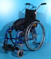Scaun cu rotile semiactiv din aluminiu second hand Sopur / latime sezut 27 cm
