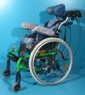 Scaun cu rotile pentru copii second hand Hoggi Swingbo - 2 / latime sezut 26 cm