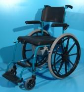 Scaun WC cu rotile din aluminiu second hand Ortopedia  / latime sezut 45 cm