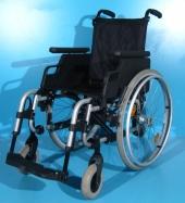 Scaun cu rotile din aluminiu second hand Sopur / latime sezut 40 cm