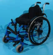 Scaun cu rotile activ copii din aluminiu second hand Berollka/ latime sezut 32 cm