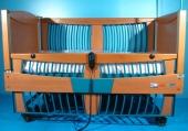 Pat electric pentru ingrijire copii cu doua sectiuni Aks 160X90
