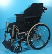 Scaun cu rotile din aluminiu Netti / latime sezut 43 cm