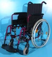 Scaun cu rotile din aluminiu Sopur / latime sezut 37 cm