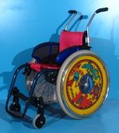 Scaun cu rotile activ din aluminiu pentru copii Sopur / latime sezut 33 cm