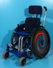 Scaun cu rotile activ copii din aluminiu Sorg / latime sezut 28 cm