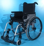 Scaun cu rotile din aluminiu second hand Sopur / latime sezut 41 cm