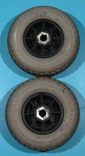 Roata cu cauciuc plin pentru scuter - set - 200 X 70