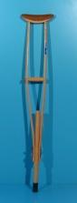 Carja din lemn cu sprijin subrat second hand / 1 buc