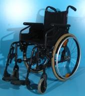 Scaun cu rotile din aluminiu second hand Sopur / latime sezut 38 cm