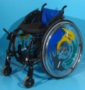Scaun cu rotile activ din aluminiu Sopur / latime sezut 32 cm