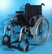 Scaun cu rotile din aluminiu second hand Sopur / latime sezut 43 cm